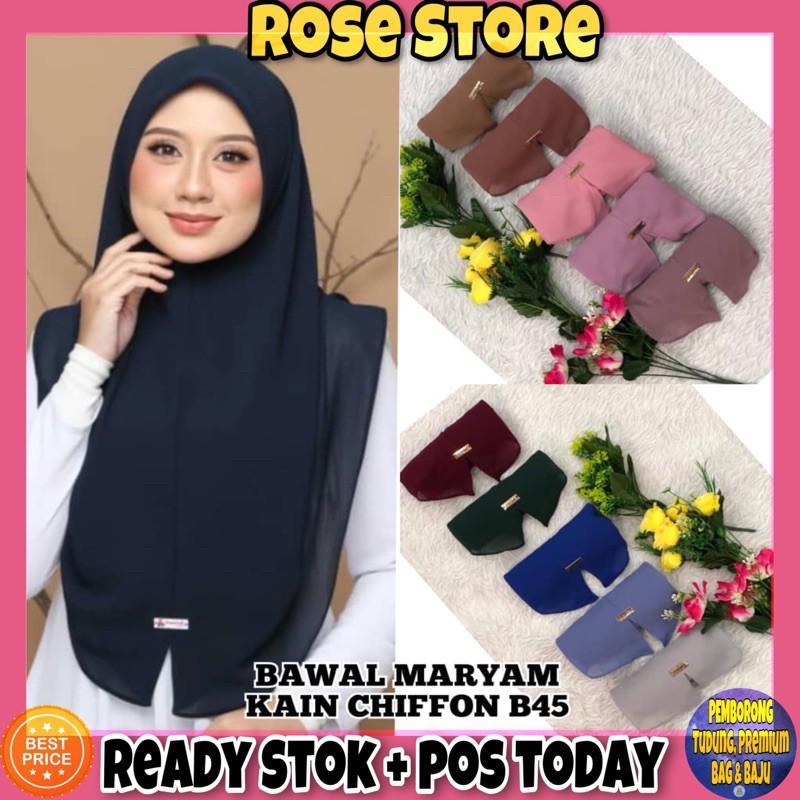 Rosestore Bawal Maryam B45 Borong 10pcs Rm70 Tudung Murah Direct Kilang Shopee Malaysia