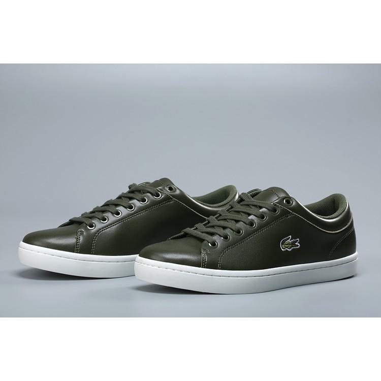 hieno tyyli muoti tyylejä halpa myynti Ready stock Lacoste Men's Shoes leather running sports shoes casual slip-ons
