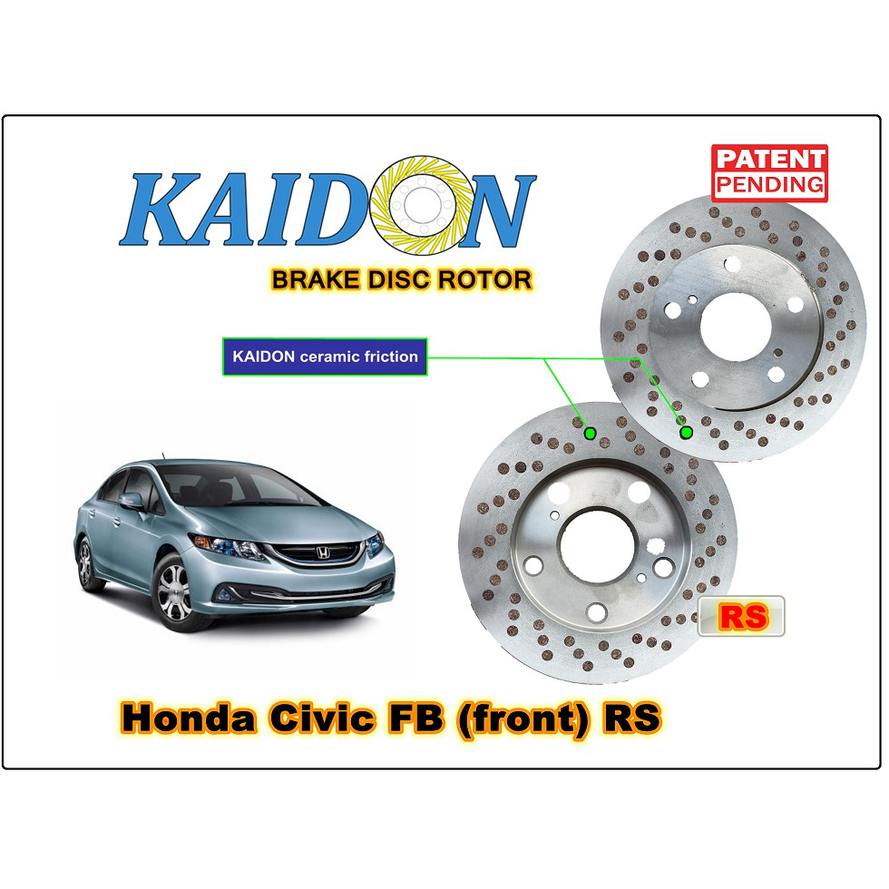 Honda Civic Fd2 Disc Rotor Kaidon Front Type Bs Spec Shopee Motor Blower All New Jazz Rs Ori Malaysia
