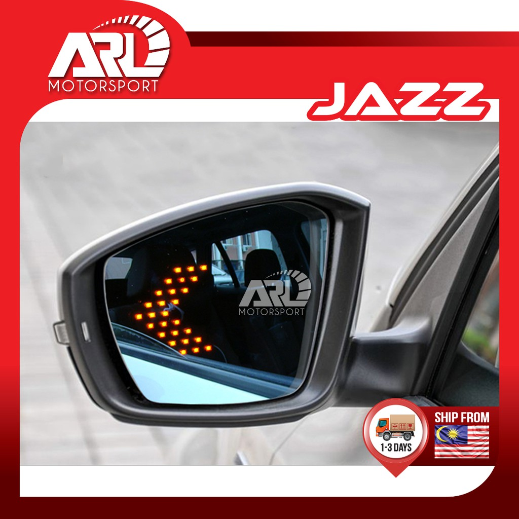 Honda Jazz / Fit (2014 - 2020) Blue Mirror with LED Light Signal Lamp Car Auto Acccessories ARL Motorsport