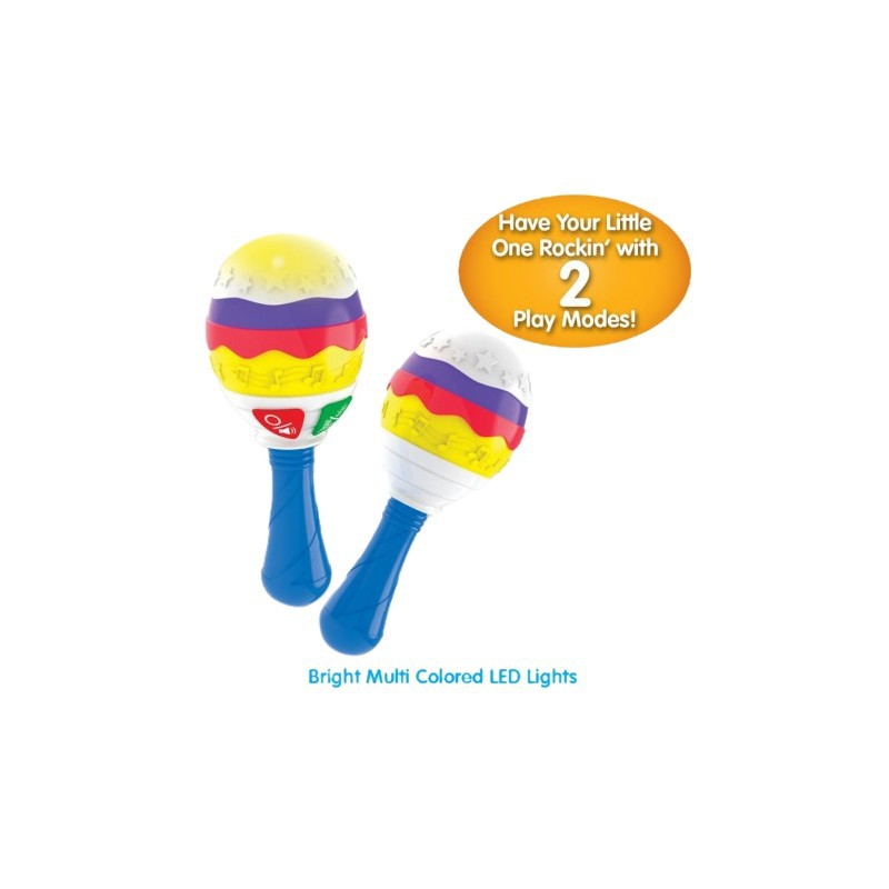 THE LEARNING JOURNEY -LITTLE MUSIC MARACAS – ELECTRONIC MUSICAL TODDLER TOYS
