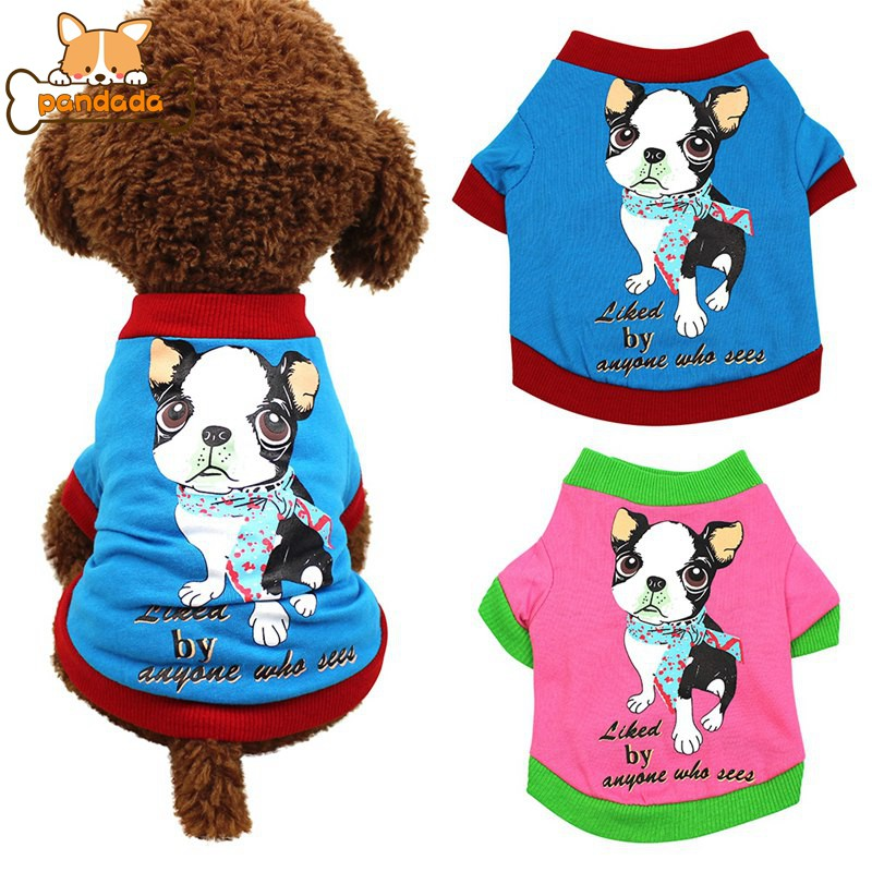 b35e42163dc71 Lovely Dog Pattern Pet Spring Summer Cotton Breathable T-shirt