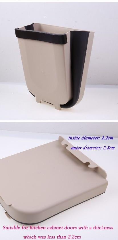 【READY STOCK】BIG SIZE 28X26cm Foldable Trash Bin/Mounted Dustbin/