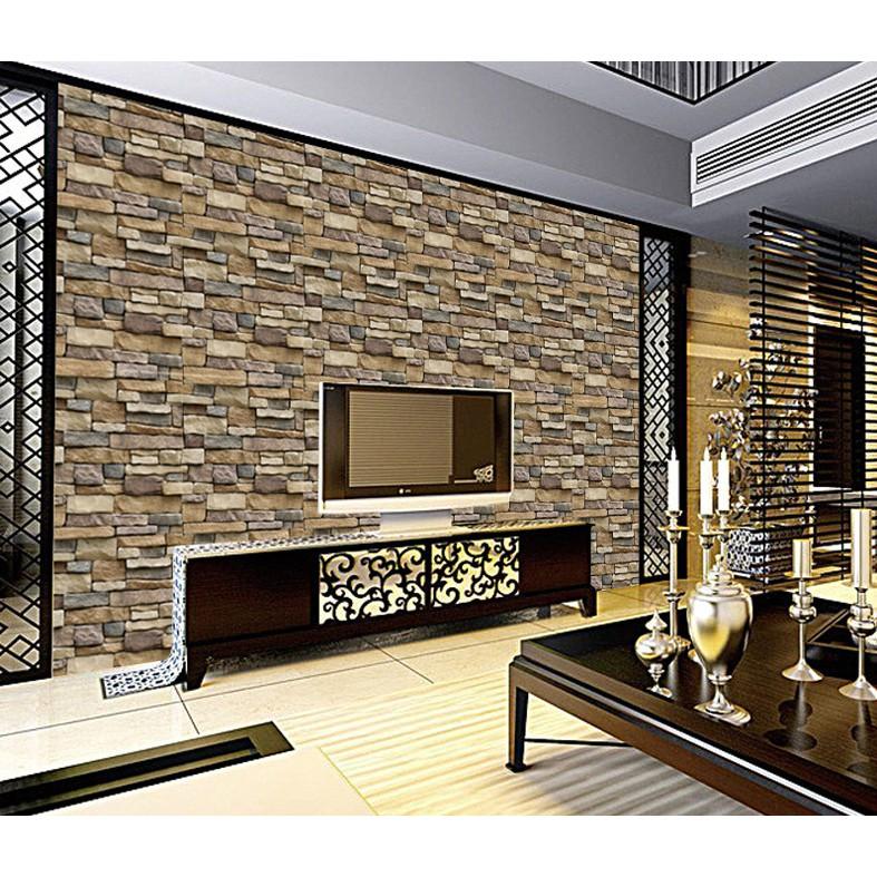 Hotel 3d Wallpaper Home Decoration Living Room Self Adhesive Wallpaper Wall Art Shopee Malaysia