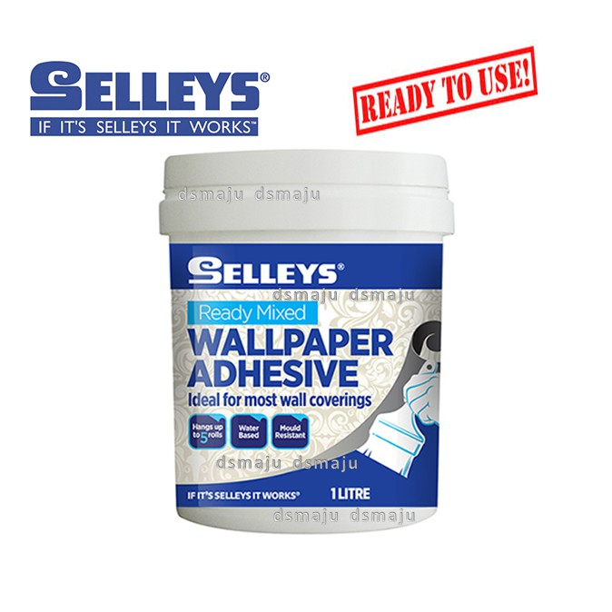 Selleys Wallpaper Adhesive 1 Lit Wallpaper Glue Ready Mixed Wall