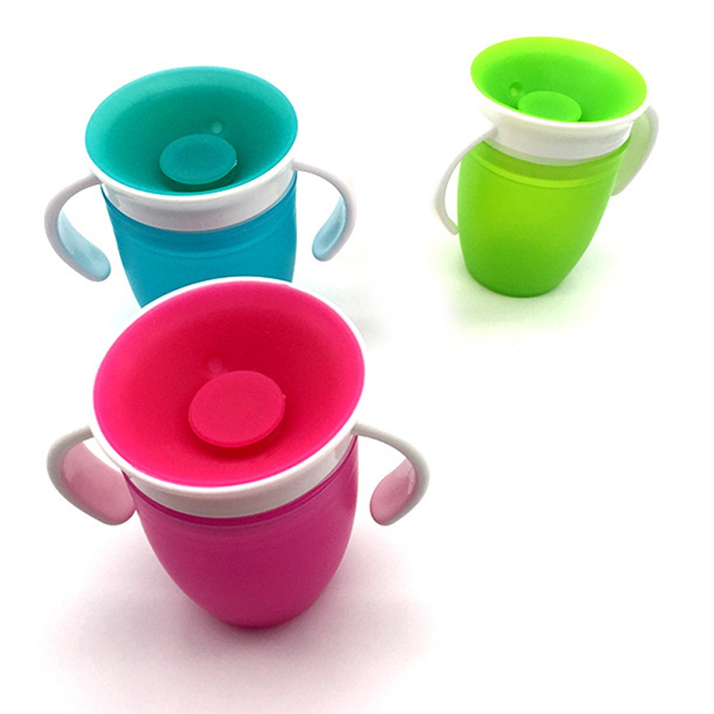 Munchkin Miracle 360 GREEN No spill Trainer Cup Beaker Toddler Leak Proof Drink