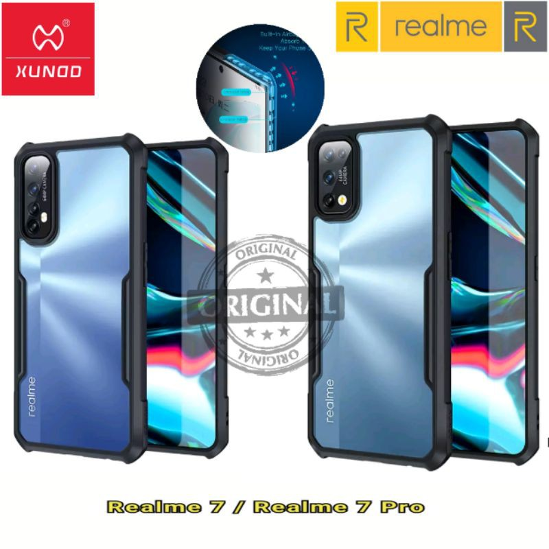Xundd Phone Case For Realme 7 Realme 7 Pro Case Shockproof Transparent Phone Cover Protective Airbags Bumper Soft Case