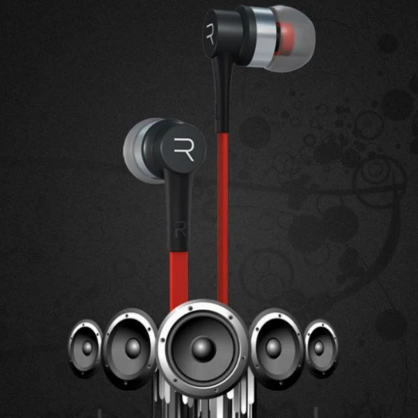 REMAX RM-535 Electronic Music Headset Earbuds Stereo With MIC (RED/BLACK)