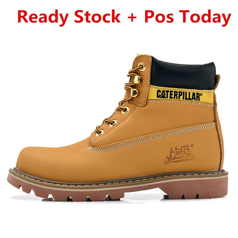 b3c3f1a23b7 Ready Caterpillar Men's Plain Soft-Toe Work Boot Boot Kerja Lelaki  Caterpillar