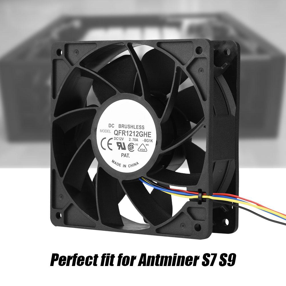 DC 12V 2 7A 6000RPM Cooling Fan 4 Pin Connector for Antminer