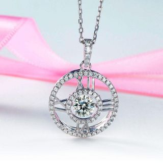 6f3033069 🌼Roman Number Dancing Stone 925 Sterling Silver Pendant Necklace XFN8077🌼  | Shopee Malaysia