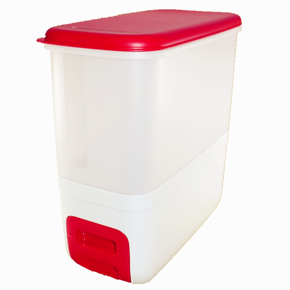 TUPPERWARE RED RISE DISPENSER RICE SMART 10KG BY NUMIT