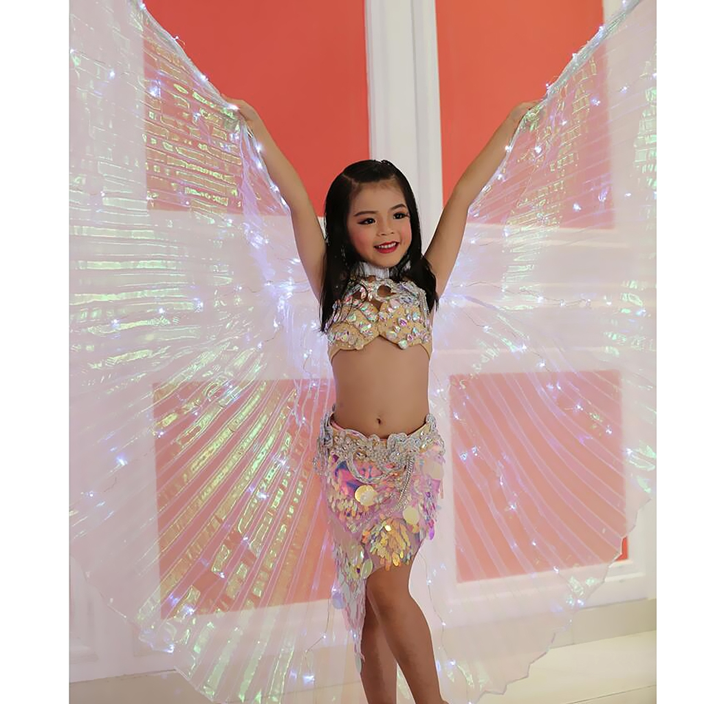 Belly Dance Costume Accessories Adults /& Children 2 Sticks Butterfly Isis Wings
