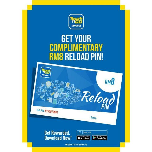 Free Reload Rm8 Soft Pin Touch N Go E Wallet Tng E Wallet Shopee Malaysia