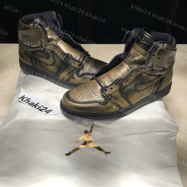 buy popular 74b79 6de35 Feidu Air Jordan 1 AJ1 wings Bronze wings Scratch limited AA2887-035