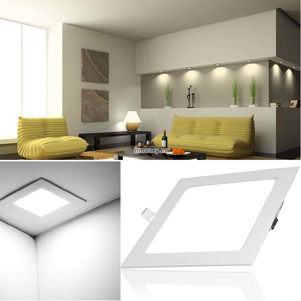 Pro Ultra Thin Dimmable Square Recessed Led Ceiling Lights For Home Office Lighting Shopee Malaysia