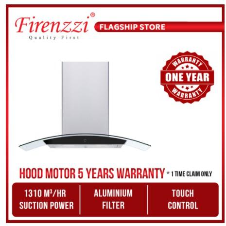 Firenzzi 1310M3/Hr Stainless Steel Designer Cooker Hood With Aluminium Filter Fch-6122 Xp