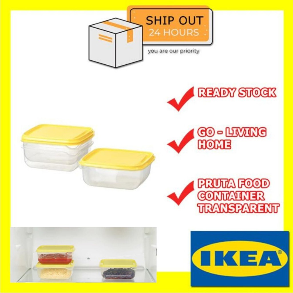 1000ml Clear Plastic Round Jars with Yellow Caps 1-18 Multi Listing