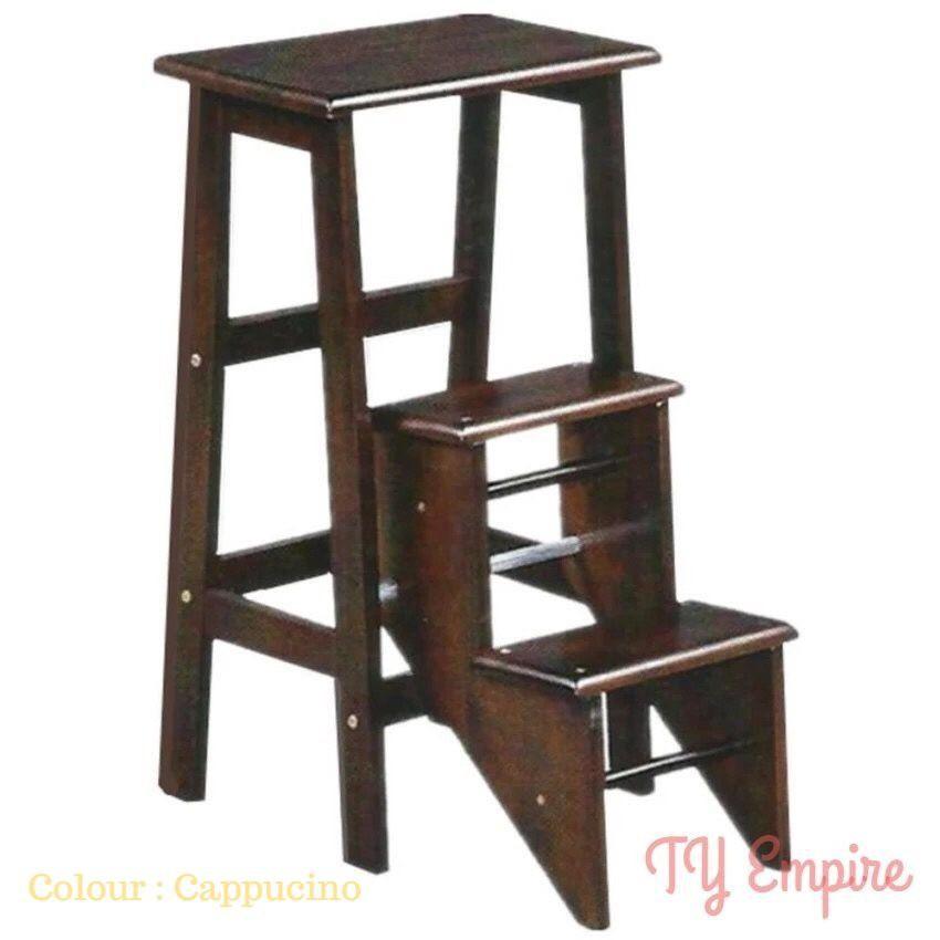 Phenomenal Solid Wooden Step Ladder Chair Inzonedesignstudio Interior Chair Design Inzonedesignstudiocom