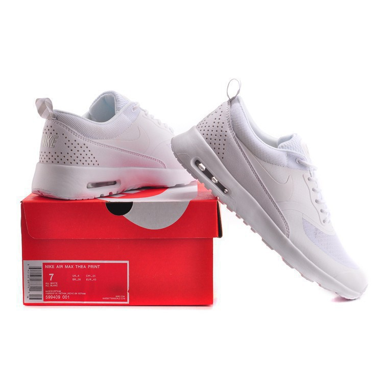 MYC Nike Air Max 87 90 Thea Full White Color Men And Women Size 36 45140 Fashion