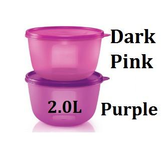 Tupperware Modular Bowl 2L 1pc -Purple Or Dark Pink