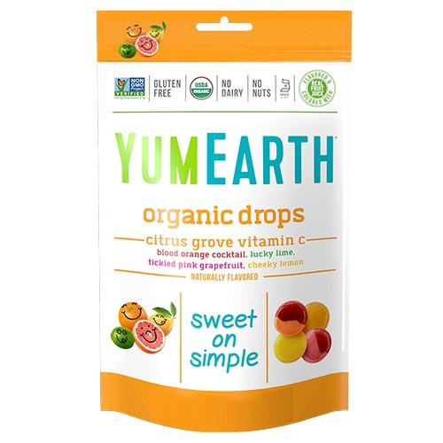 YUMEARTH Organic Candies- Vitamin C - Citrus Grove Drops (93.5ml)