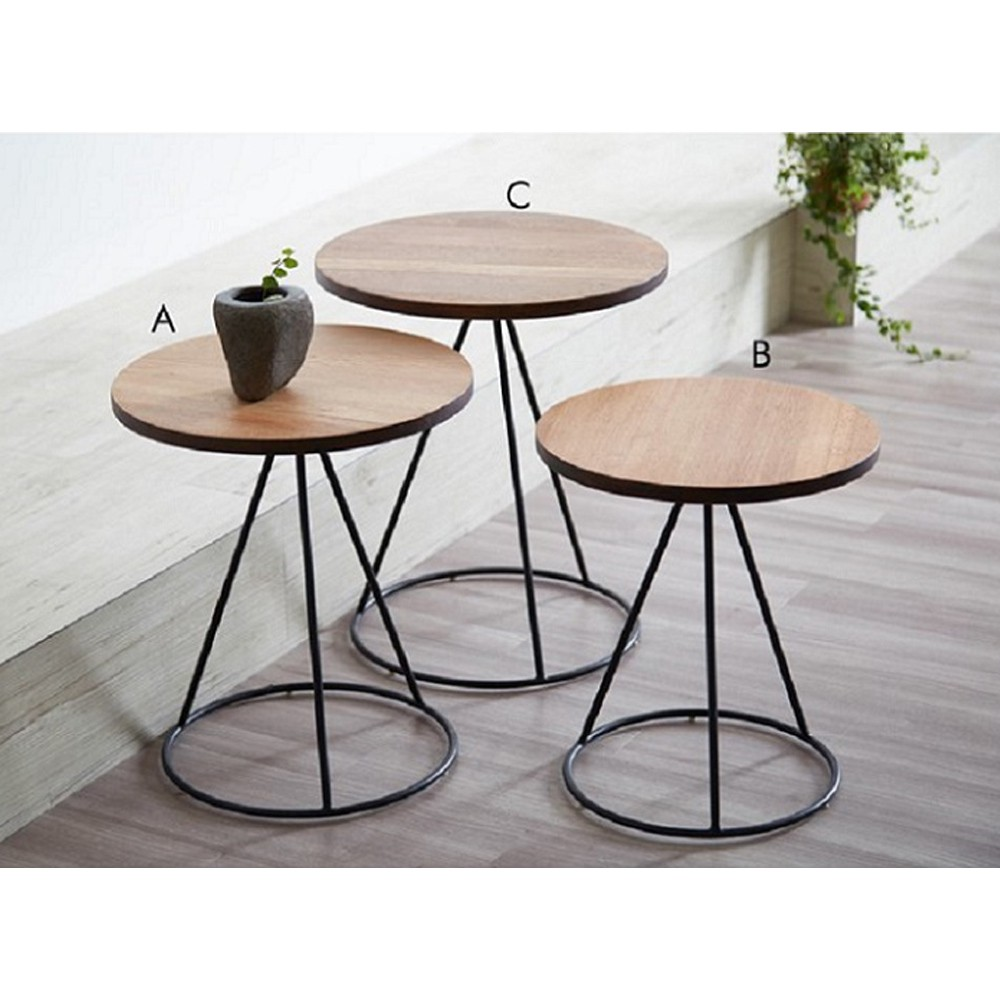 Round Nesting Coffee Table Shopee Malaysia