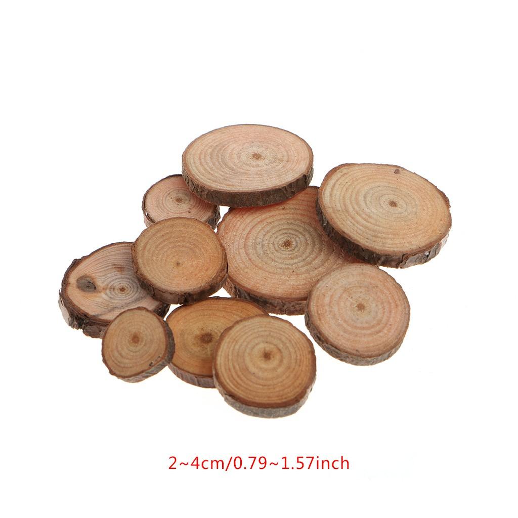 10pcs Pine Wood Tree Slices Disc Rustic Craft Wedding Party Decoration 7-9cm