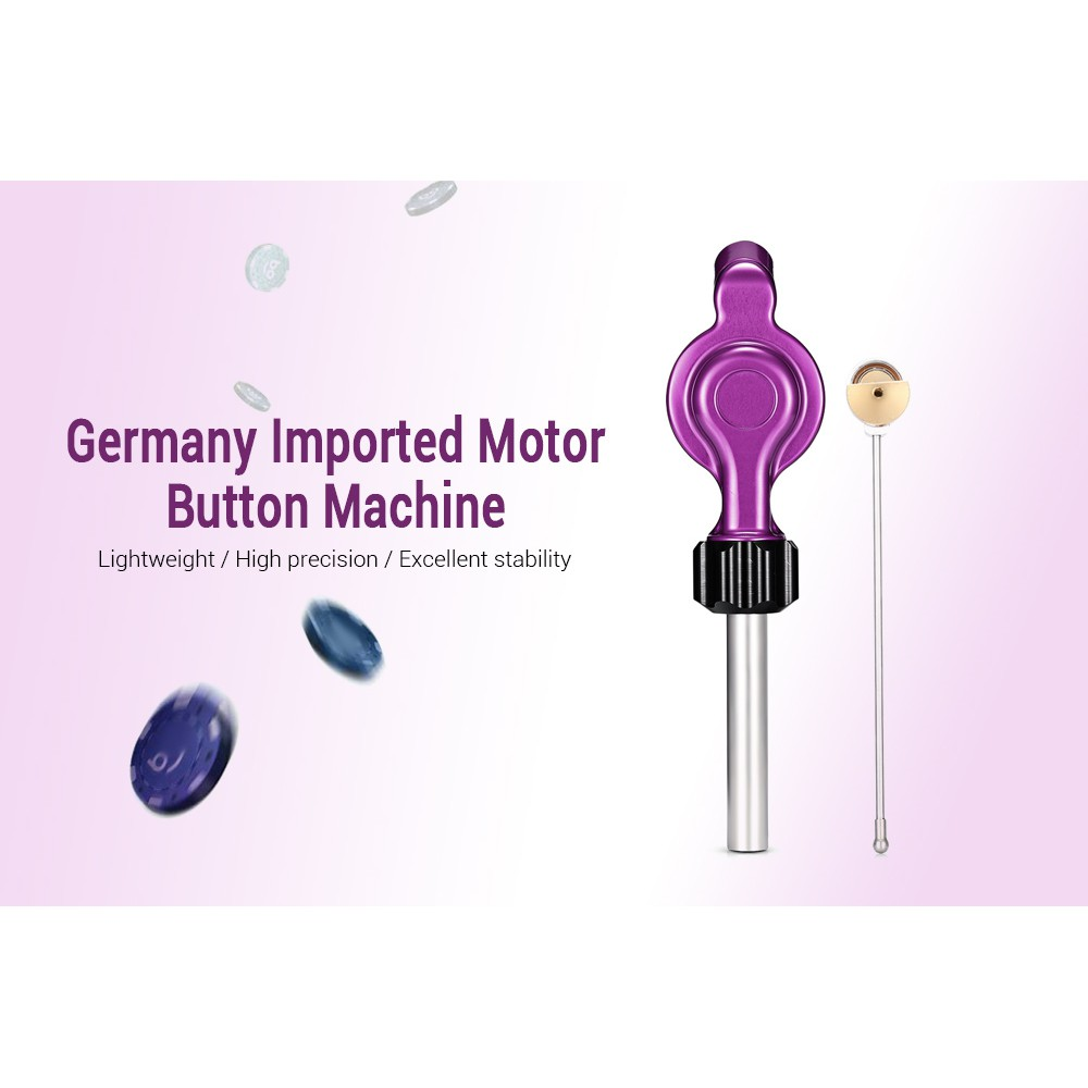 (CLEARANCE) Imported Motor Button Machine Removable Design