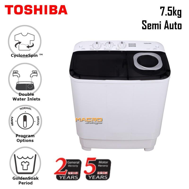 Toshiba 7.5KG Semi Auto Washing Machine VH-H85MM