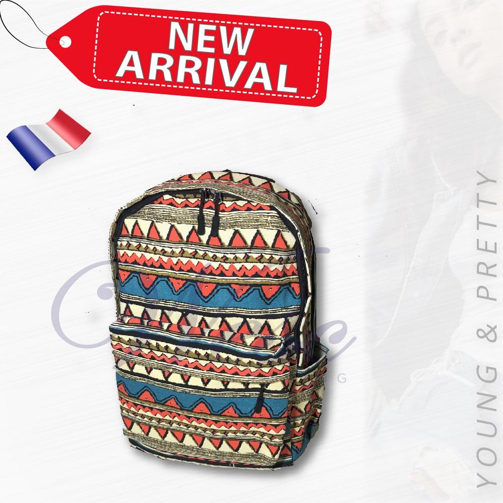 French Designer Fashion Backpack / Stylish Bag / Travel Bag (Design 1)