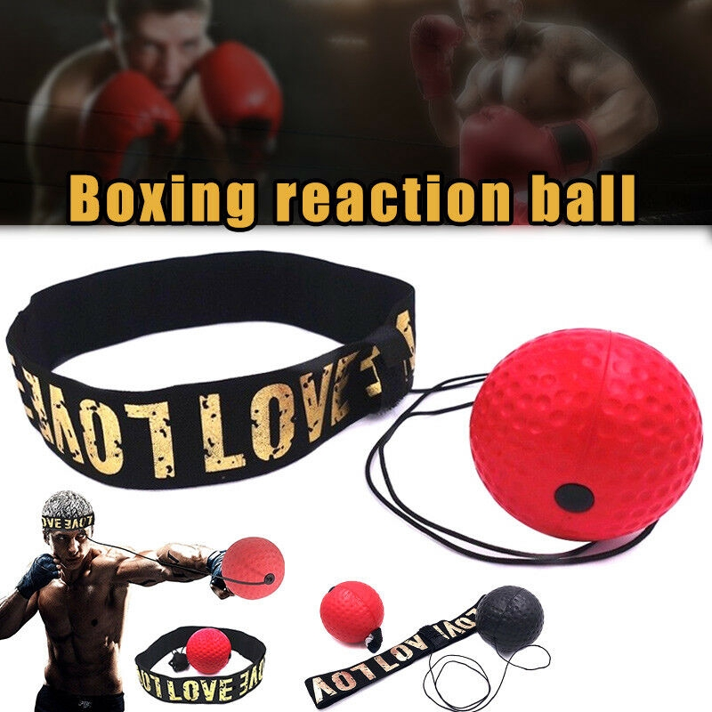 Boxing Fight Ball with Head Band for Gym Trainer Boxer Speed Training Punch