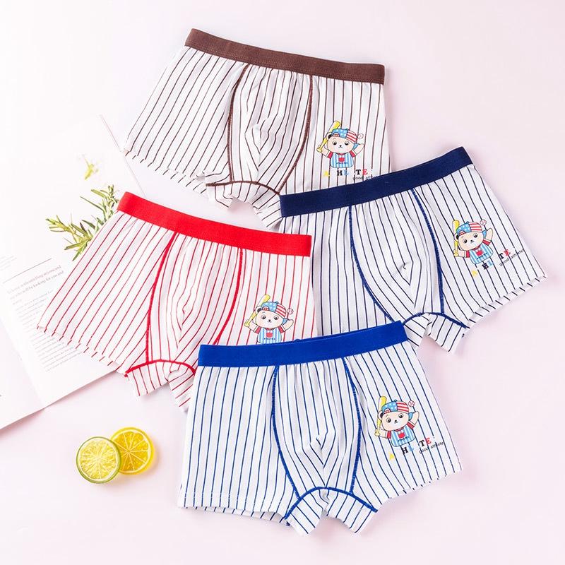 5 Pcs//Set Boys Underwear Panties Boys Cotton Boxer Shorts 2-16 Years
