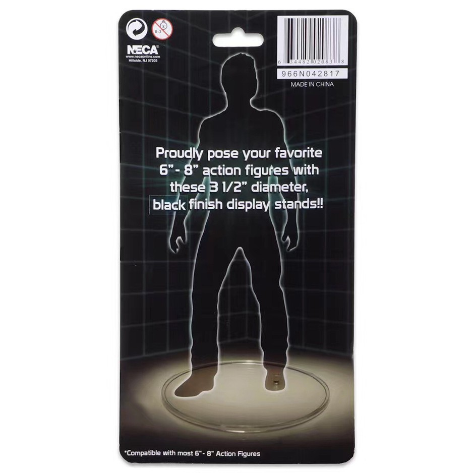 10x Flgure Dispaly Plastic Stands Clear For 6/'/'-8/'/'  Action Figures 3.5/'/' Round