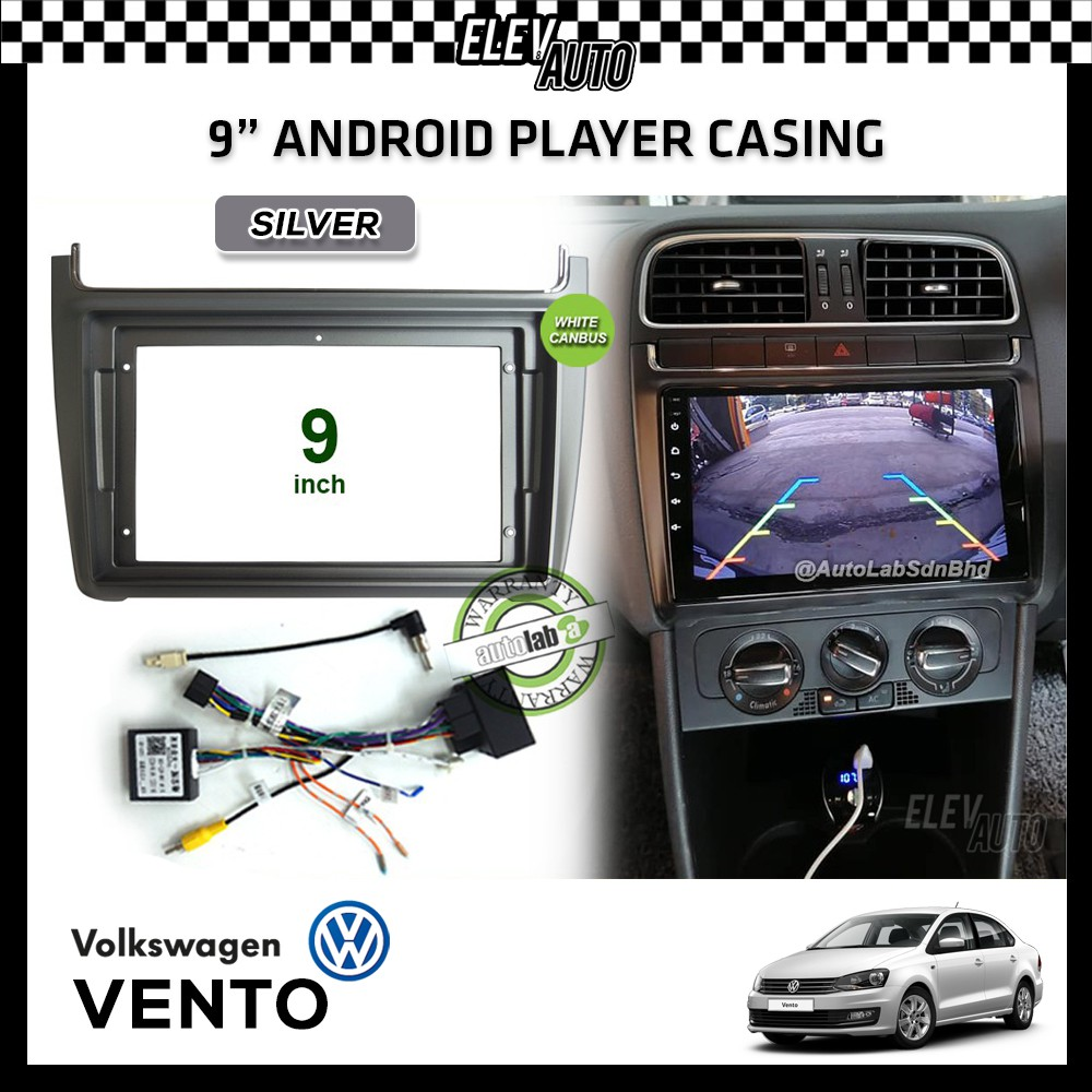 """Volkswagen Vento Android Player Casing 9"""" with Socket & Canbus"""