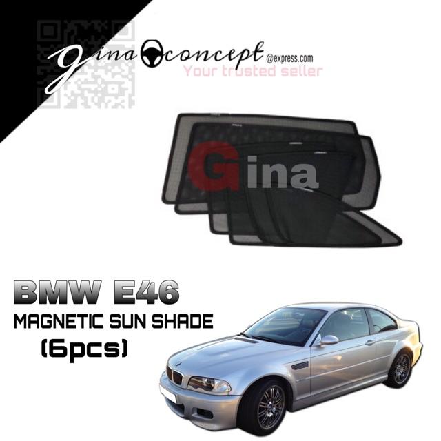 Magnetic Sun Shade Bmw E46 1999 2004 6pcs Shopee Malaysia