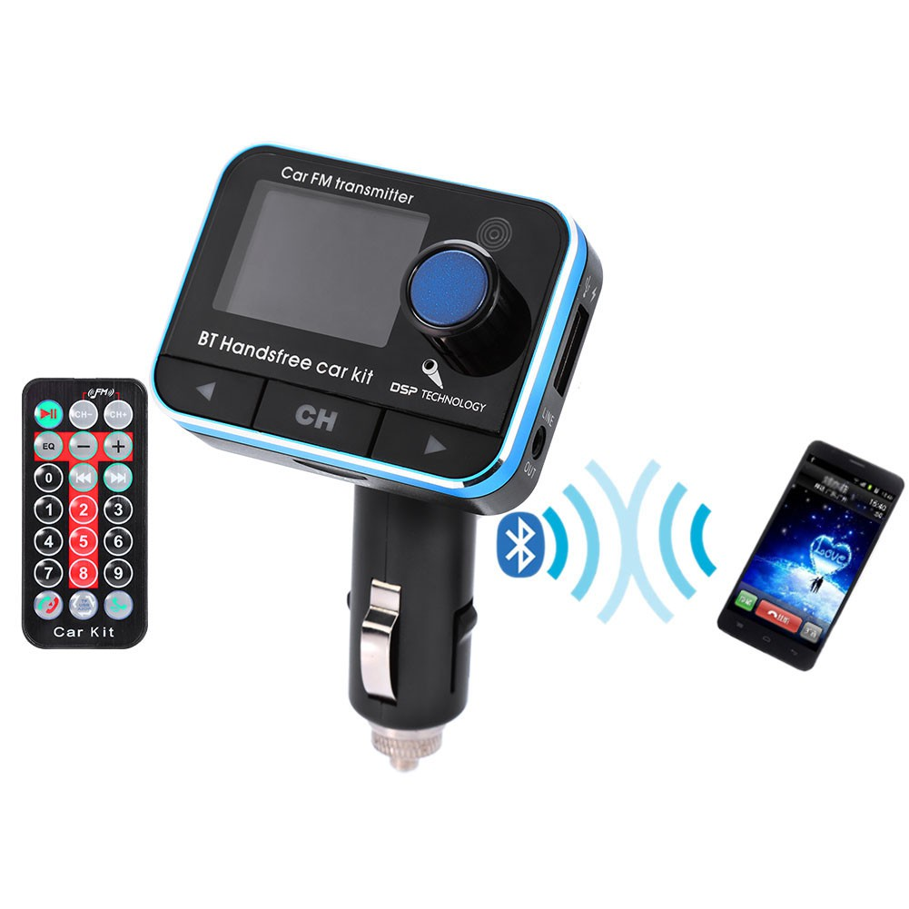 Bluetooth Car Kit Handsfree Fm Transmitter Radio Mp3 Player Usb Portable Charger Aux Shopee Malaysia