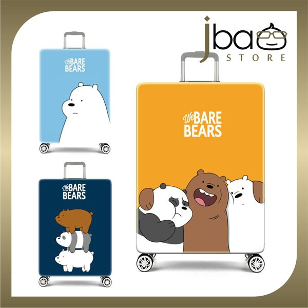 D.Beaner Elastic Travel Luggage Suitcase Protector Cover (We Bare Bears)