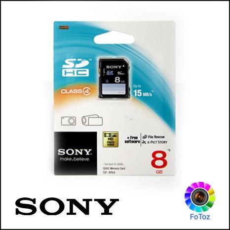 SONY SDHC memory card 8GB Class4 SF-8N4