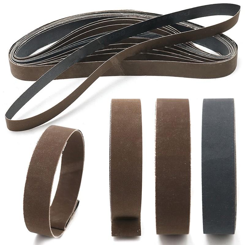 Abrasive Tools 80-1000grit 14pcs Sanding Belts Aluminum Oxide Sandpaper Sander Pads 25*1050mm