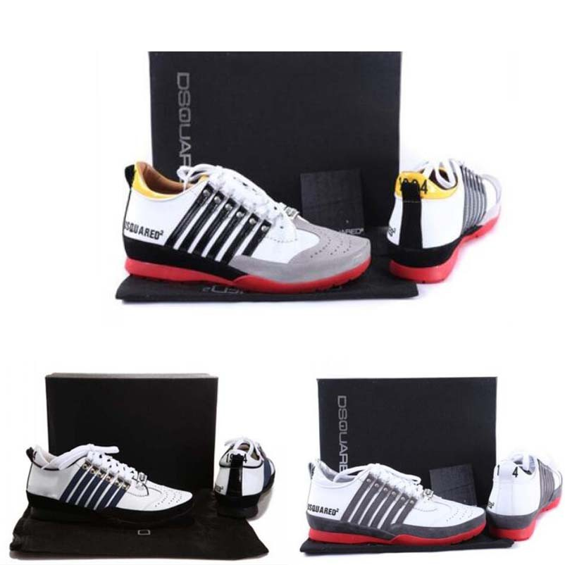 Luxury fashion brand DSQUARED2 men casual Low Tops leather Sneakers man shoes
