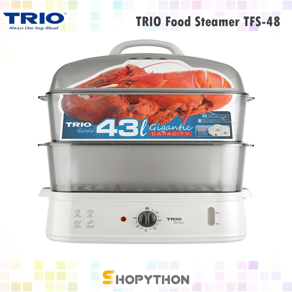 TRIO Food Steamer TFS-48 Gigantic Capacity (43L) Periuk Pengukus Besar Rice  Bowl
