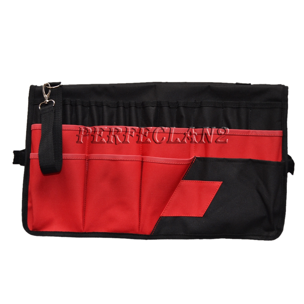 Toolzon Canvas 16 POCKET TOOL ROLL  Spanner Wrench Tool Storage Bag Case Fold Up