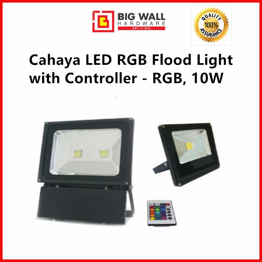 Cahaya LED RGB Flood Light with Controller - RGB, 10W