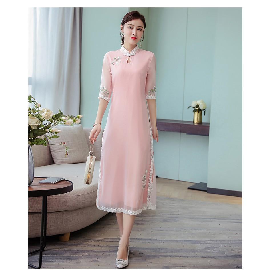 499428c7a ProductImage. ProductImage. Chinese style retro ethnic style silk silk  cheongsam ...