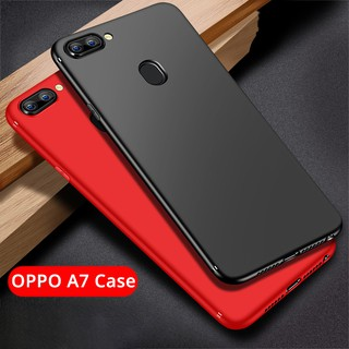 OPPO A7 Case   Soft Slim Matte Casing Shockproof Back Cover with Ring Holder   Shopee Malaysia