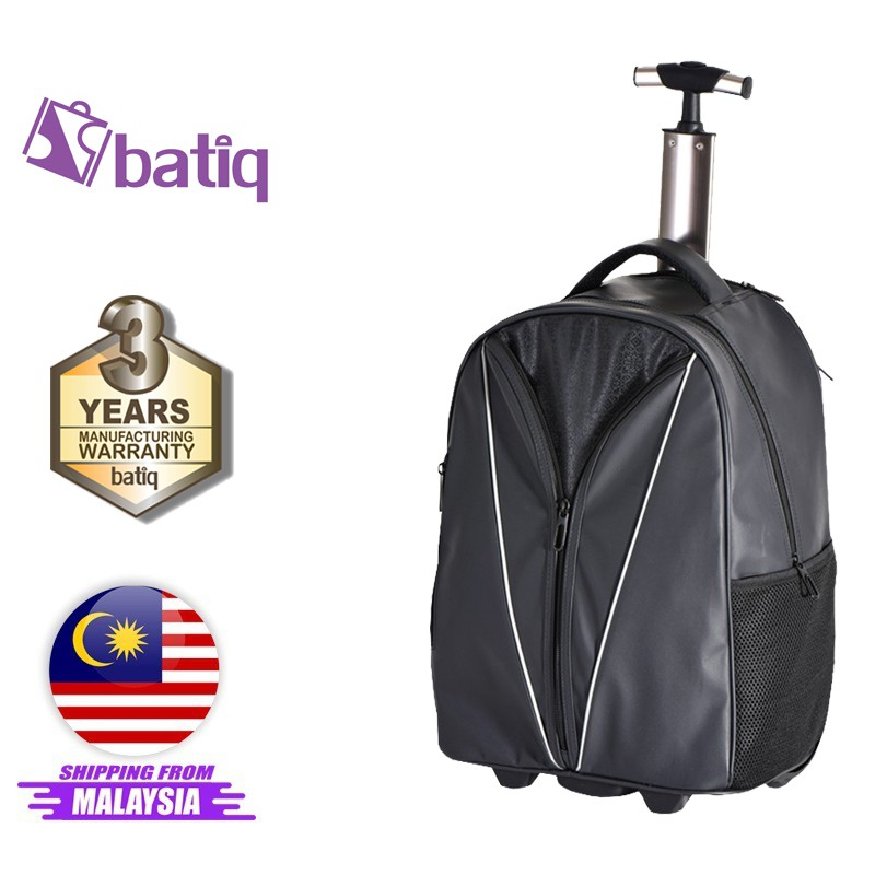 Batiq i-Pilot Trolley Bag 2in1 Business Traveller Backpack Cabin Size Water Resistant Hidden Trolley Handle QualityWheel