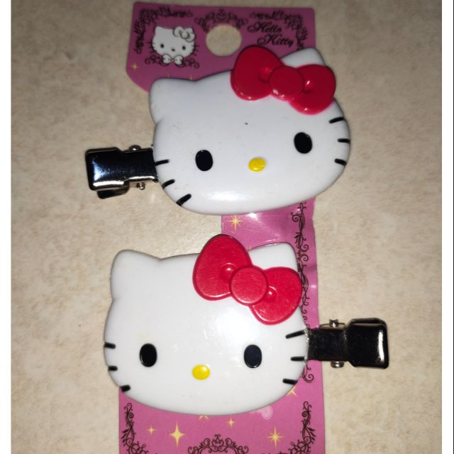 🆕💯✅🥇hello kitty  hair clip(pair)2s  red kitty
