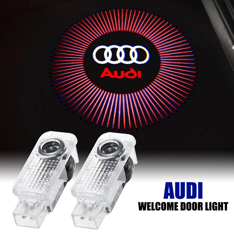 2 xFor Audi A3 A4 A5 A6 Door Welcome Logo Ghost Shadow Courtesy Laser LED Light