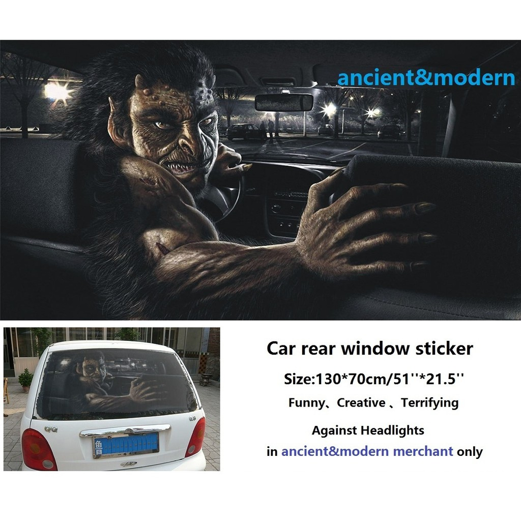Funny Creative Terrifying 3d Ghost Car Stickers For Car Rear Window